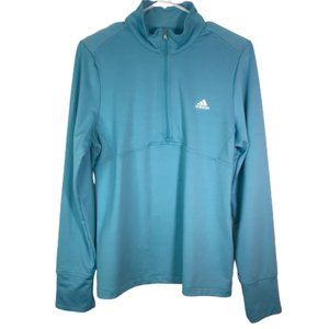 Adidas Quarter Zip Running Long Sleeve Track Jacke